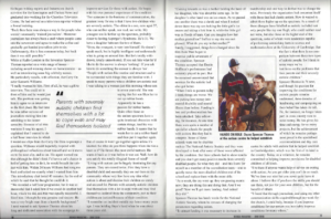 Mensa magazine two pages