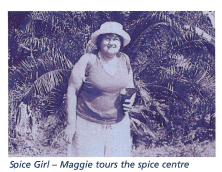 Maggie tours the spice centre