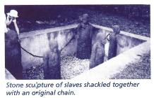 Sculpture of shackled slaves
