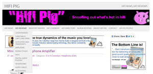 New Look Hifi Review Pages for Hifi Pig