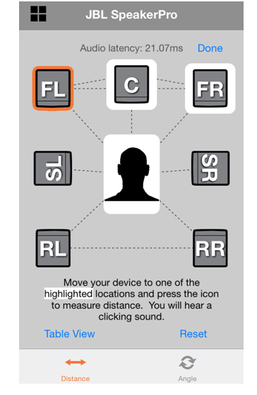 Speaker Positioning App For iOS