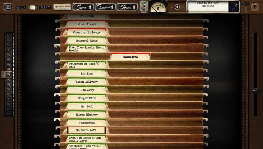 Neil Young Archives File Cabinet