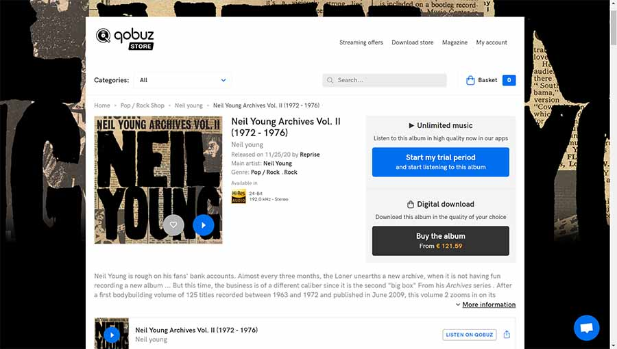 Neil Young Archives Qobuz ii