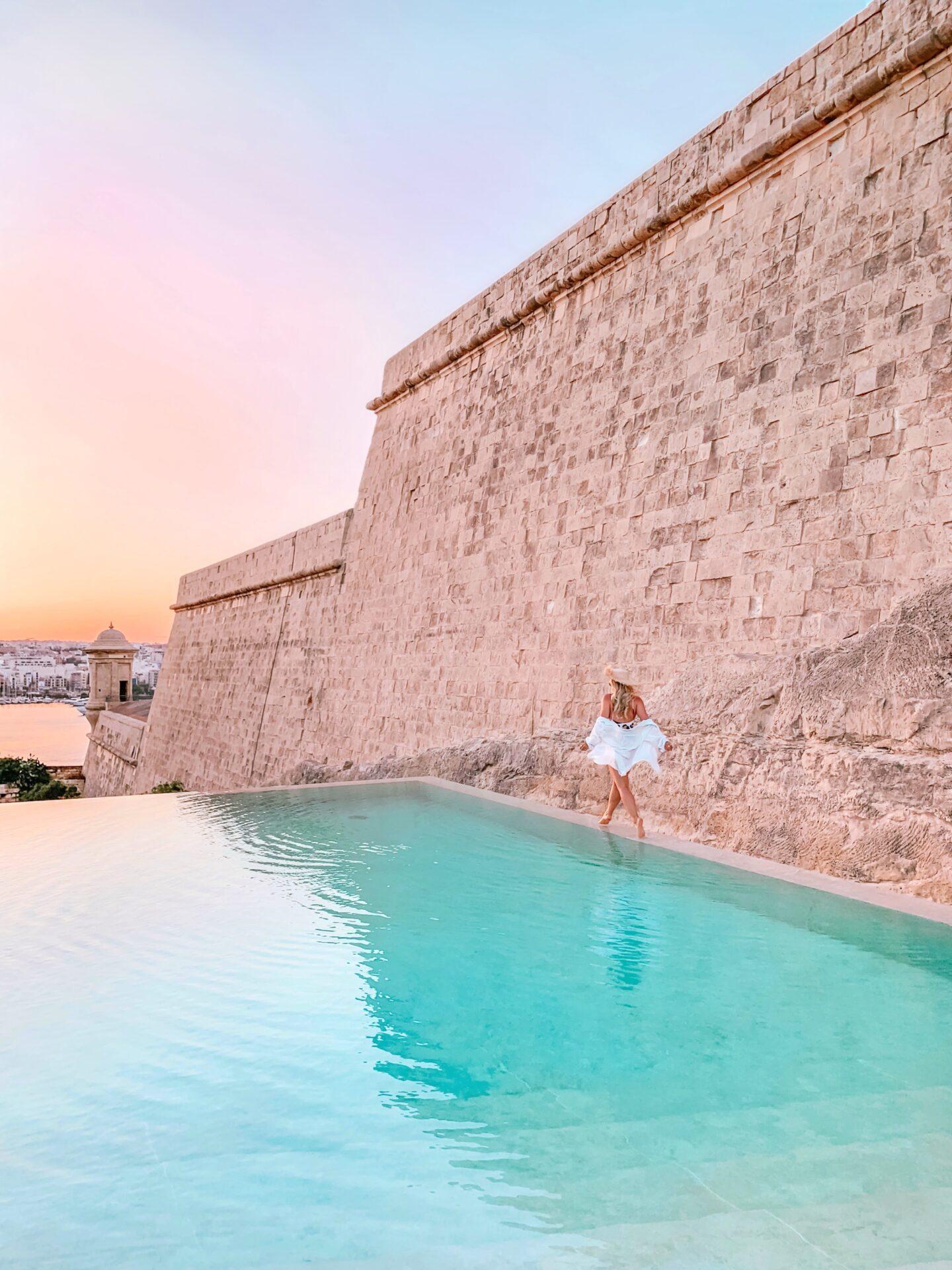 The Phoenicia Malta infinity pool