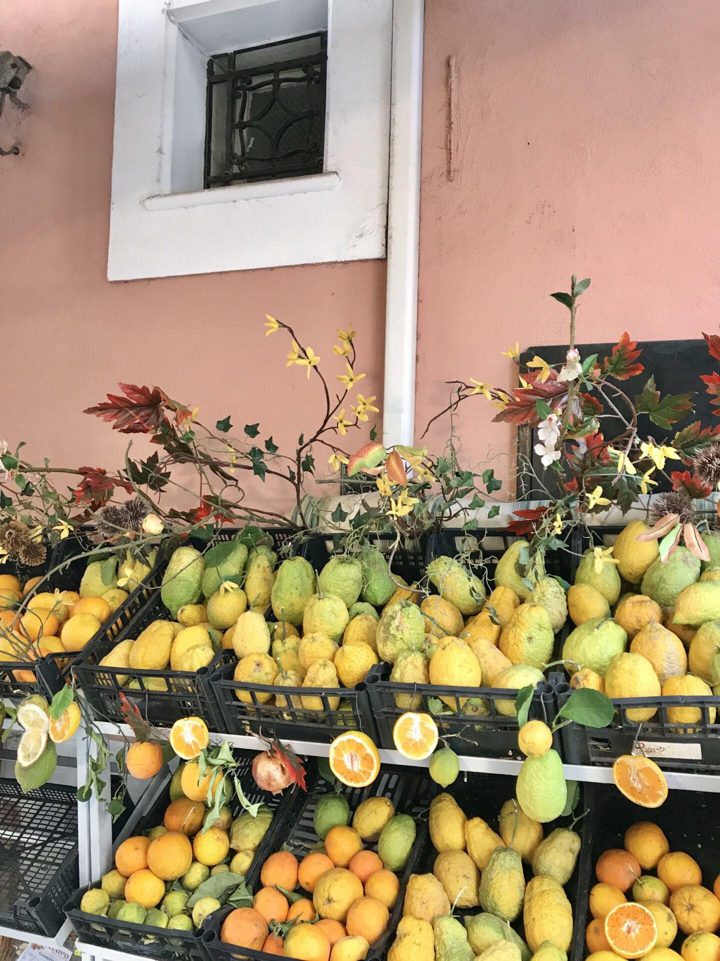 fruit stall Taormina
