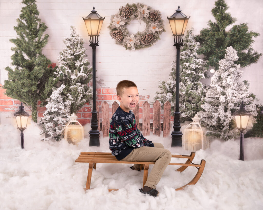Christmas Mini Session A Snowy Day