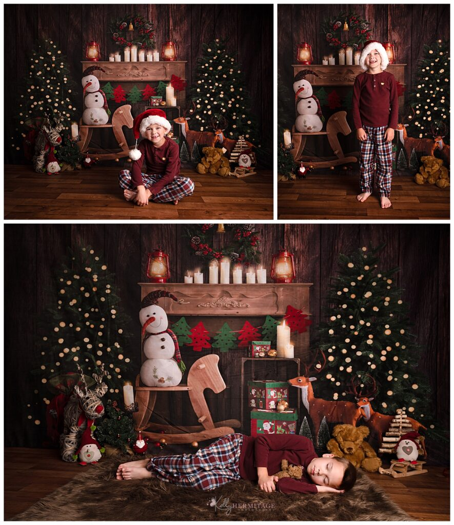 Night Before Christmas Christmas Mini Session Set Up.