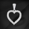 Heart shaped Diamond pendant - MIKU diamonds