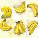 Banana Study in Acrylics