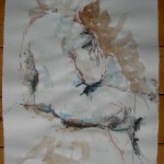 Nude sitting pastel ink