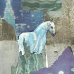 Blue Horse Collage