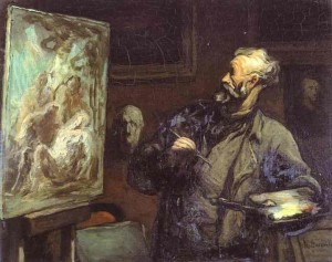 honore-daumier-self-portrait