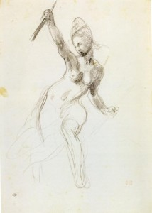 Eugene_Delacroix_drawing_for_Liberty_Leading_the_People_c.1830