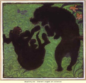 Pierre_Bonnard_Two_Poodles_1891_36.3x395cm