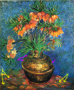 fritillaries-in-a-copper-vase-1887_van_gogh_pink_and_yellow_arrows_added