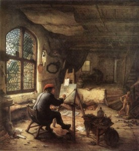 Ostade_Adriaen_van-The_Artist_in_His_Studio_1663_oil_on_wood_38x33.5cm