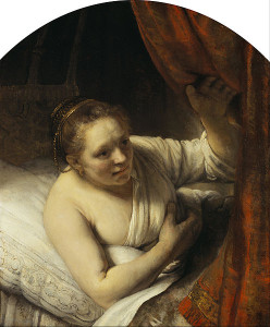 Rembrandt_(Rembrandt_van_Rijn)_-_A_Woman_in_Bed_c1645-6_oil_on_canvas