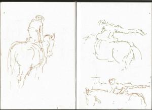 Marianne_Dorn_equestrian_vaulter_sketch