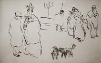Toulouse-Lautrec sketches of people and dogs