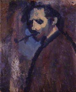 NPG 6653; David Bomberg ('Self-Portrait with Pipe') by David Garshen Bomberg