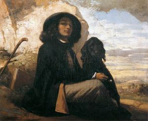 Gustave_Courbet_Self-Portrait_with_Black_Dog-oil_on_canvas