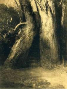 Odilon Redon Deux Arbres 1875