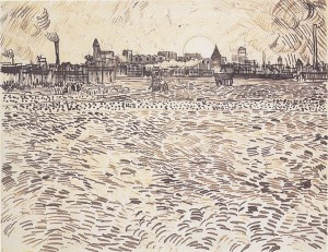 Vincent_van_Gogh_Sumer_evening_study_after_a_painting_c1888