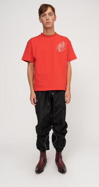[LIMITED EDITION] FINE CHAOS X STUDIO 39 BLOOD RED TRIBAL TEE