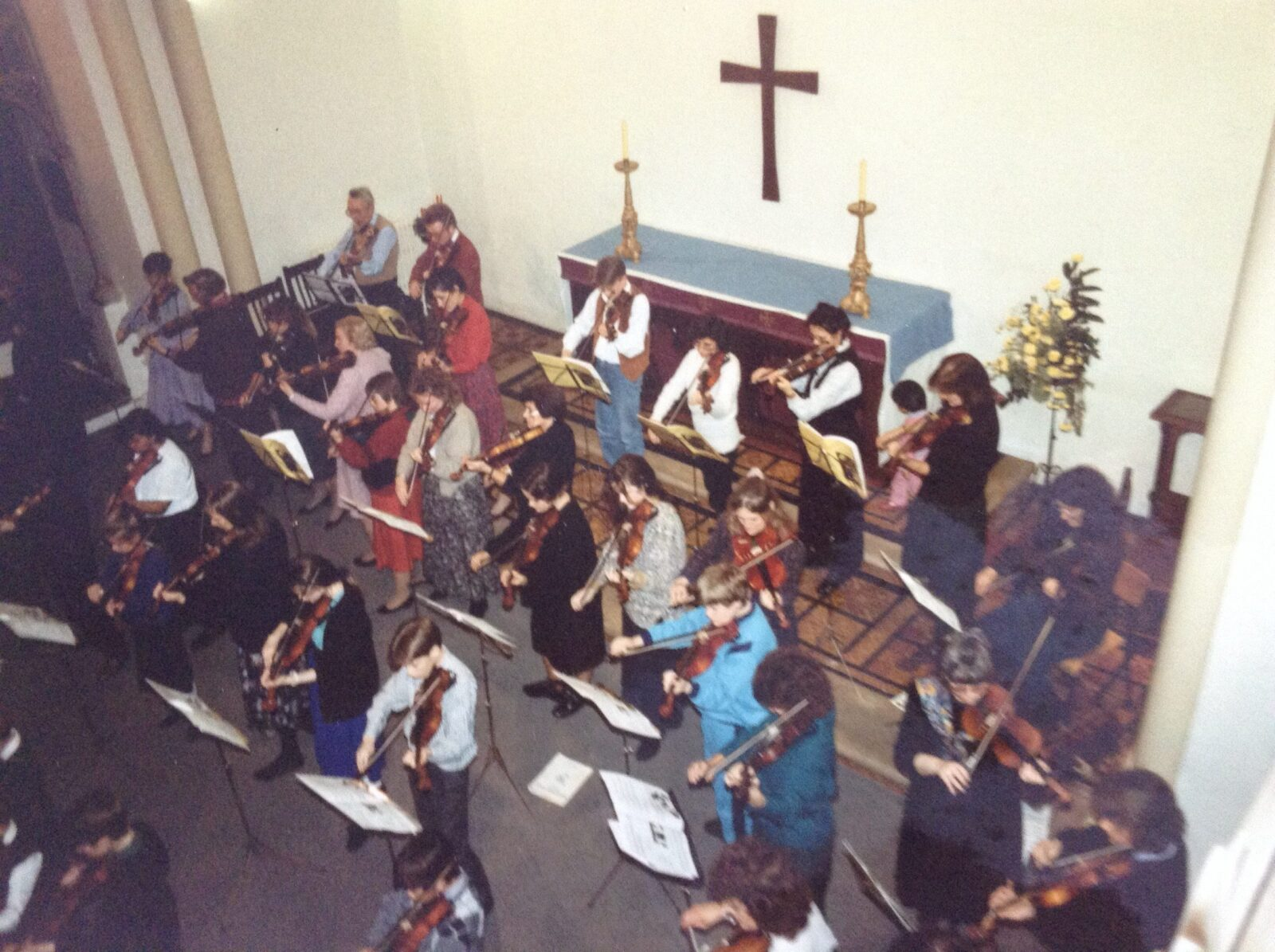 Playing an Xmas concert at St Botolphs, Colchester