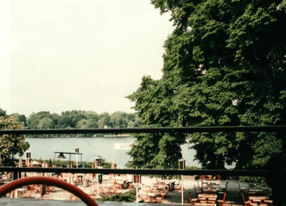 Communist Café on the Havel Lake in the DDR