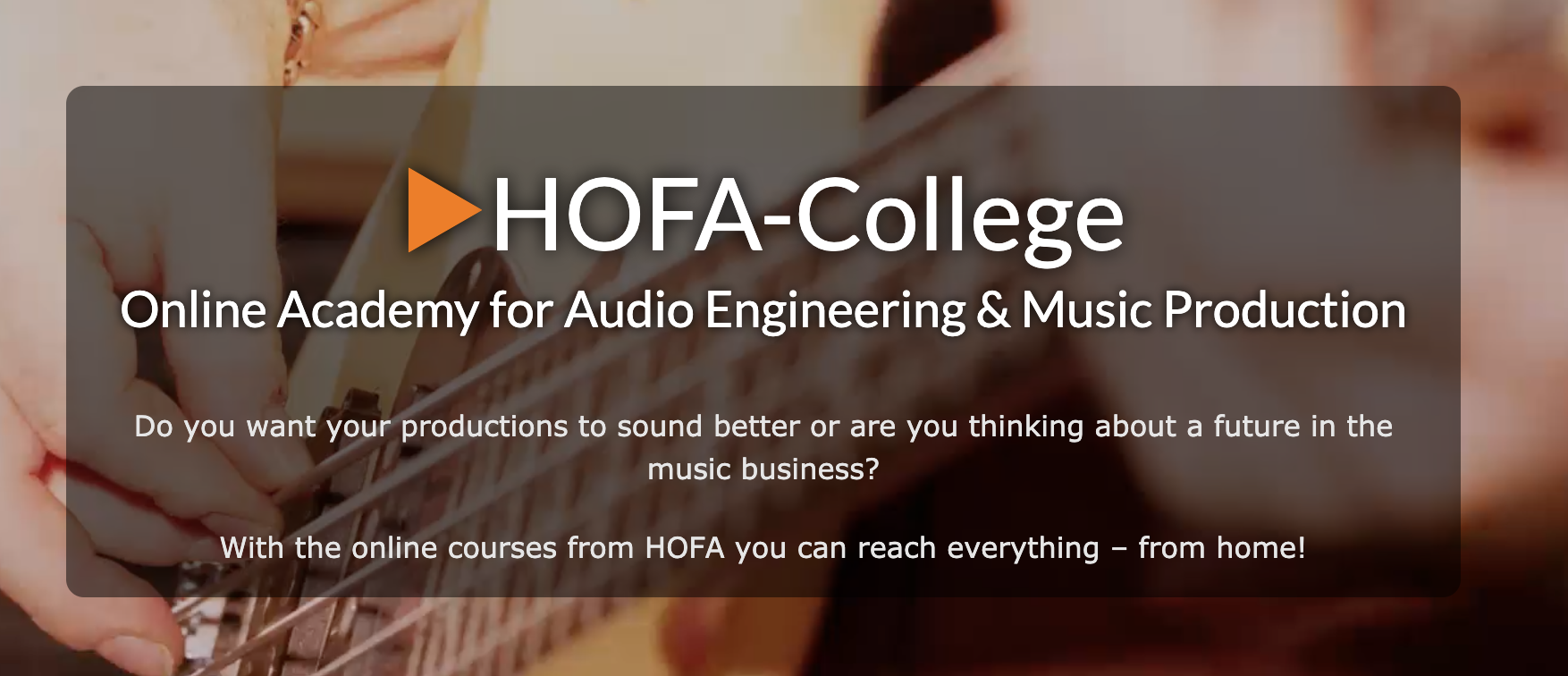 Link to my German college of Sound Engineering