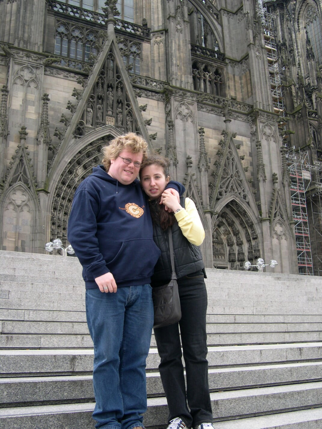 Marina Gorelik and I on the steps of Cologne Cathedral 2006