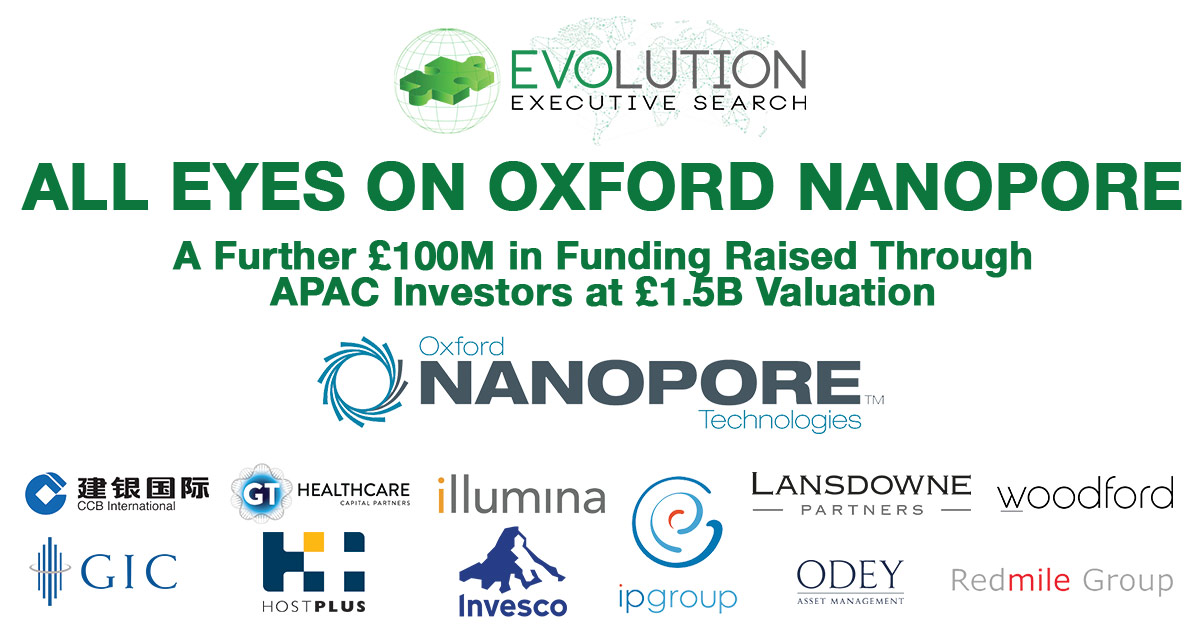 All Eyes on Oxford Nanopore after further £100m funding raised though APAC Investors at £1.5B Valuation