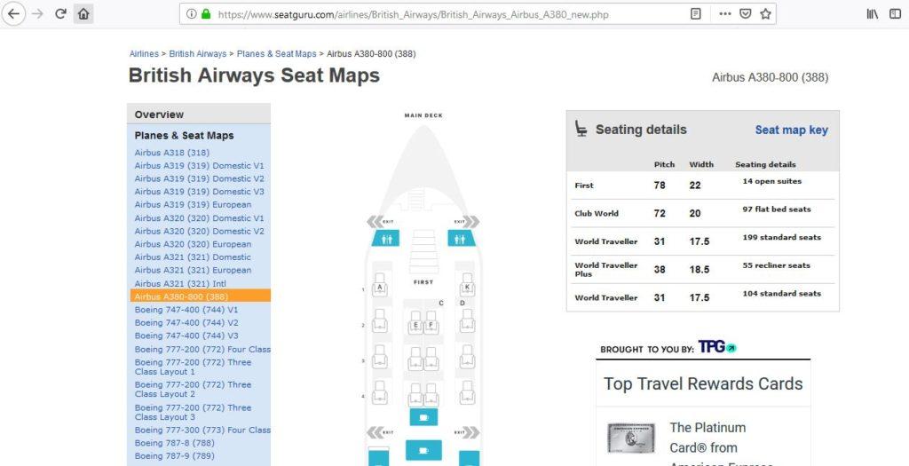 seatguru seatmap british airways a380
