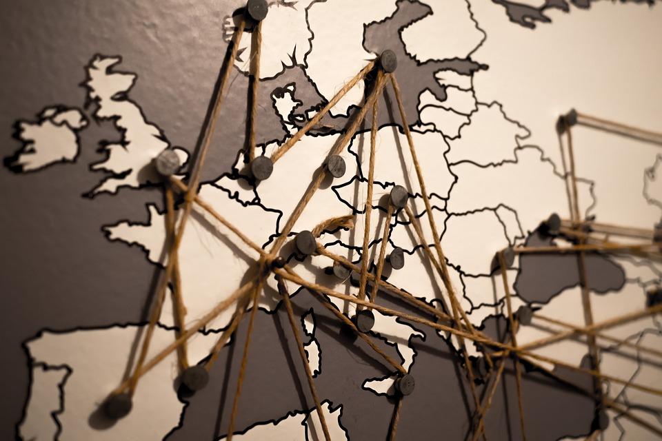 map pins europe travel