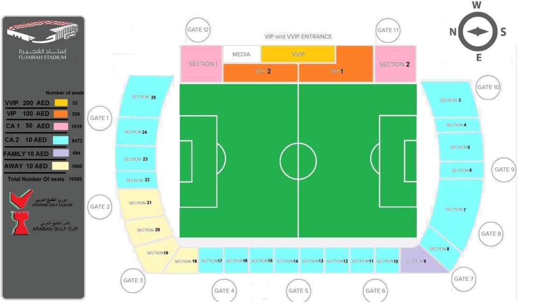 Fujairah Stadium Map - final