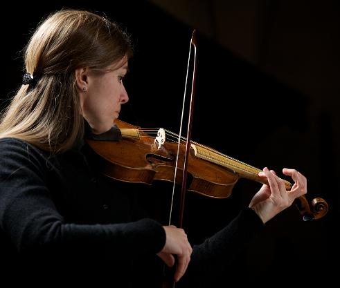 Caroline with violin