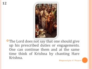 Should a devotee give up his duty?