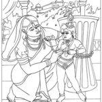 Damodar Lila:When Yashoda punishes Krishna, the Supreme Lord