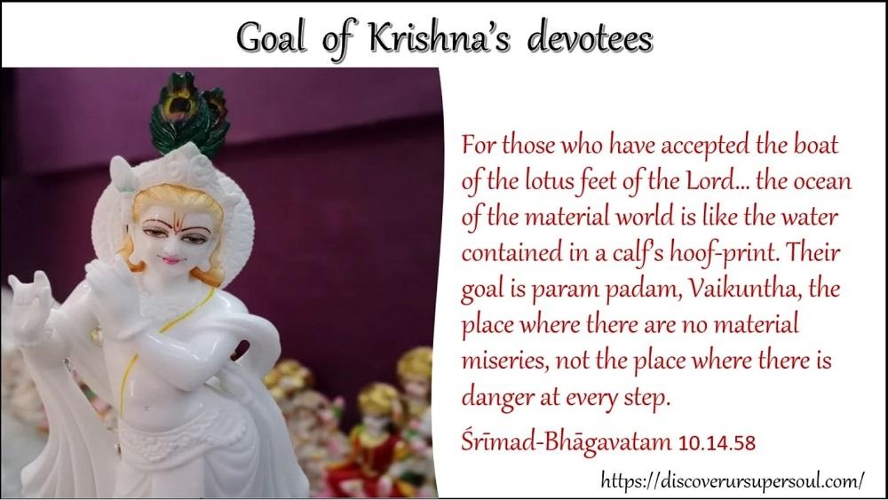 Goal of Krishna's devotees