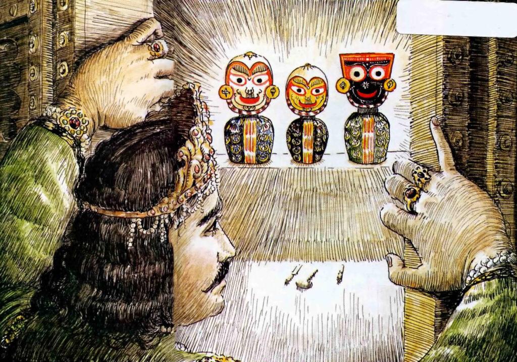 Indradumya sees Lord Jagannath