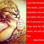 Why to always pray to Lord Narasimhadeva for protection?