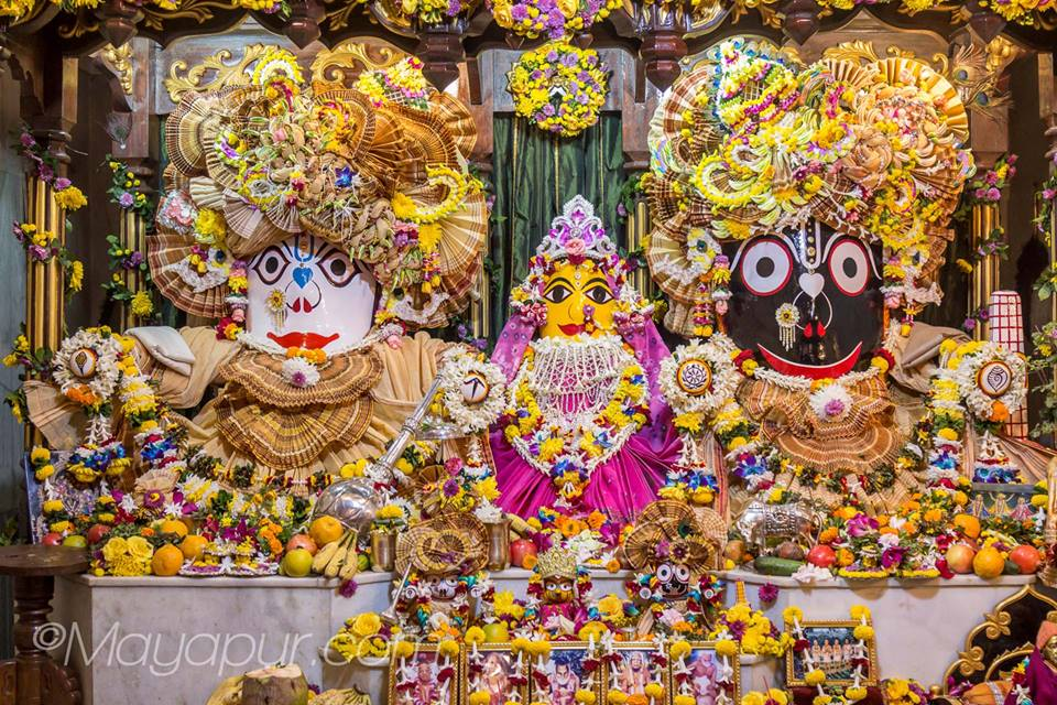 Worshipping Lord Jagannath