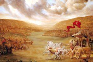 Why Krishna wanted Arjuna to fight the Mahabharat war? To establish dharma.