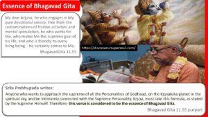 Essence of Bhagavad Gita according to Srila Prabhupada, the founder acharya of Iskcon