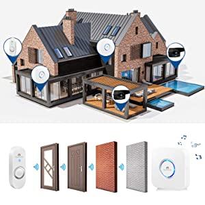 Arctic square II wireless doorbell kit home alert