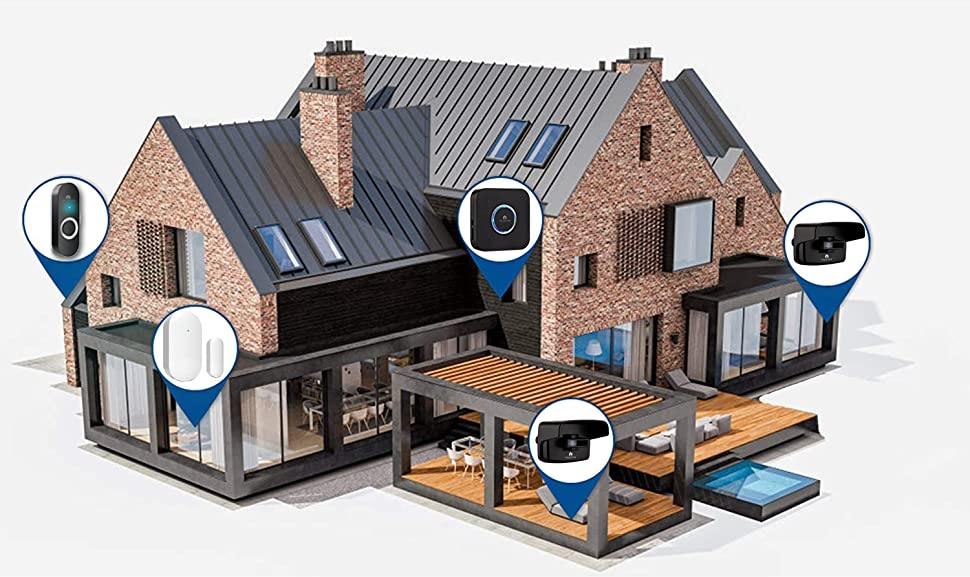Midnight Sqaure wireless home alert kit