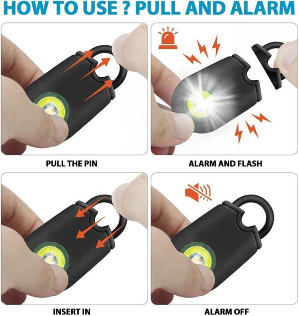 personal alarm security safety siren women children elderly self defence safety attack
