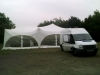 marquee set up in progress