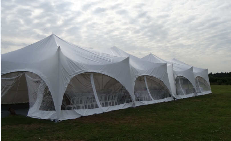 large marquee with walls